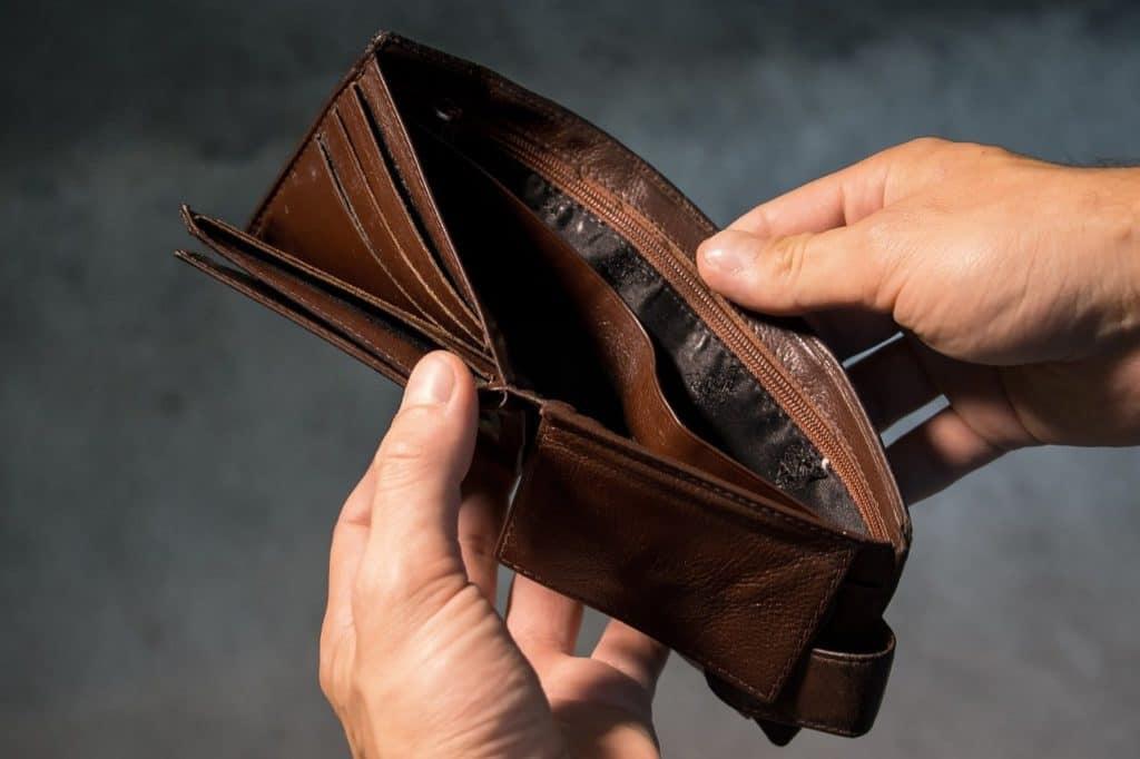 ארנק ריק כי לא נחסך כסף